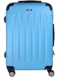 Sunydeal Maleta Rígida Equipaje Mediano de Mano, 62cm , 58 Litros, Azul Claro, Candado TSA , 4 Ruedas multidireccional , Azul Claro