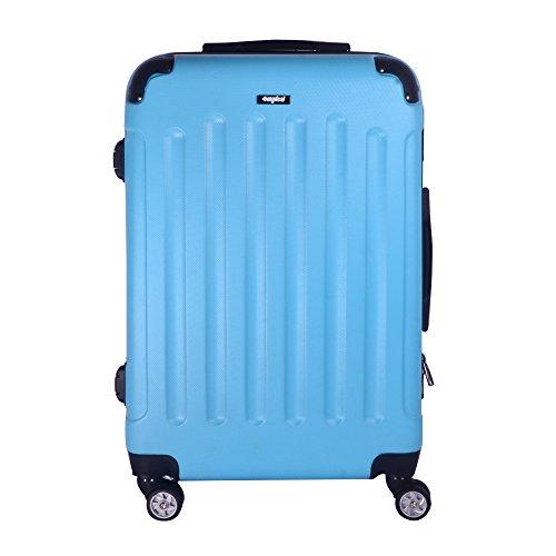 Valise cabine 52cm 36L - Sunydeal - ABS ultra Léger - 4 roues - Bleu clair - Garantie de 12 mois
