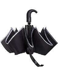 Asamoom Reflexiva De La Raya De 60 MPH A Prueba De Viento Del Paraguas, Doble Toldo Automático Abrir Cerrar Impermeable 300T Tela Compacto De Viaje Plegable Paraguas Automático
