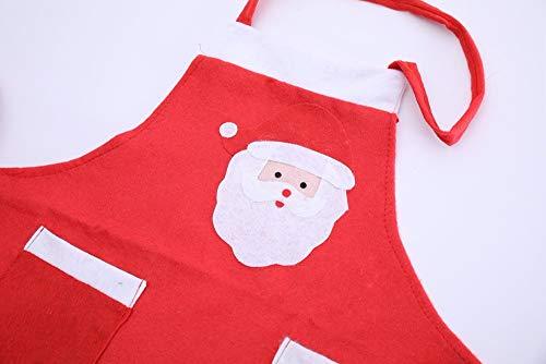 Leon's shop Grembiule Natalizio Babbo Natale Famiglia per Adulti Cena Cottura Cuoco Cuoco Regalo di Natale Decorazione {4 PZ}