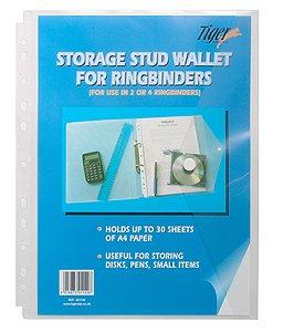 A4Transparent Plastique Stud document Portefeuille pour classeur à anneaux (Pack