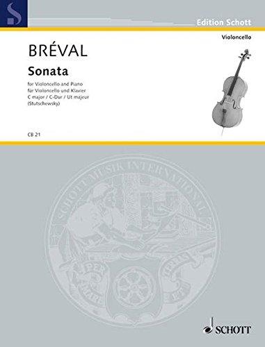 Sonata C-Dur: aus op. 40. Violoncello und Klavier. (Cello-Bibliothek)