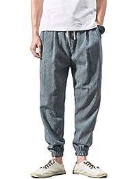 IOSHAPO Otoño e Invierno Pantalones con cordón de Hombre Casual Playa Pantalones  Pantalones Deportivos Pantalones para ec4d8a22c6dd