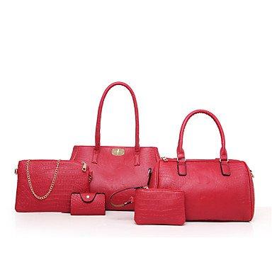 Le donne della moda classica borsa Crossbody,Nero Black