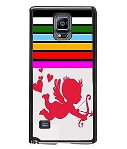 PrintVisa Flying Love High Gloss Designer Back Case Cover for Samsung Galaxy Note 4 :: Samsung Galaxy Note 4 N910G :: Samsung Galaxy Note 4 N910F N910K/N910L/N910S N910C N910Fd N910Fq N910H N910G N910U N910W8