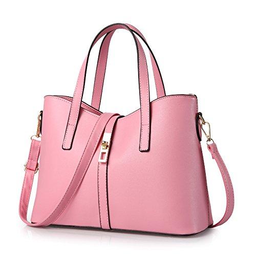 Mefly Donna Manico Corto Borsetta Argentata Pink
