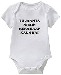 Chota Packet Baby Romper (ROM226-4, White, 12-18 Months)