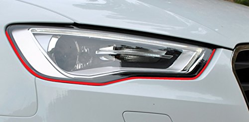 Devil Teufel Scheinwerfer Aufkleber Stripes Eye in Rot, passend für Ihr Fahrzeug