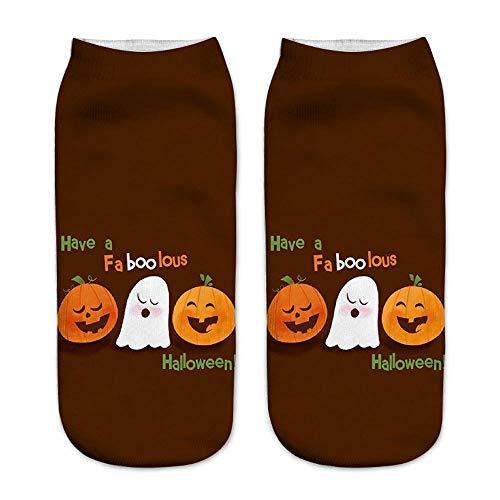Amphia Warme Weichem Socks - Nette zufällige Geschäfts-Socken 3D Halloween-Kürbis, der mittlere Sport-Socken druckt