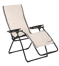 Lafuma LFM2662-2338 Telo per sedia a sdraio Relax, 100% Cotone, 60x180 cm, Ecru (Grigio)