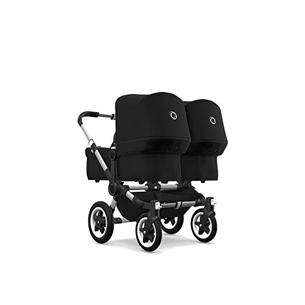 Bugaboo Donkey 2 Twin, 2 in 1 Double Pram and Double Pushchair for Twins, Black Bugaboo Perfect for two children of the same age Use as a double pushchair or convert it back into a single (mono) in a few simple clicks You only need one hand to push, steer and turn 1