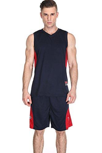 Männer Basketball Shorts und Jersey Basketball Uniform für Männer Trainieren Laufen Gym Shorts Set Schnelle Trockene atmungsaktive Sportbekleidung (Professionelle - Herren-basketball)