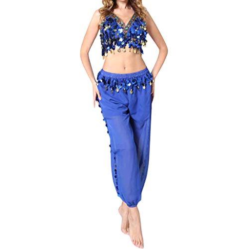 Erwachsenen Kostüm Für Indischen - Oberteil Hose Damen Bauchtanz Kostüm Set Piebo Aladdin Kostüm Orient Kostüm Faschingskostüm Chiffon Karnevalkostüm Indischer Tanz Darbietungen Kleidung Festival Show Kostüme