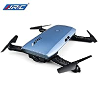 JJRC H47 ELFIE Plus WiFi FPV Camera Drone Quadcopter 720P Foldable Selfie Drone With Gravity Sensor Controller Headless Mode Altitude Hold Mode RTF - Blue by JJRC