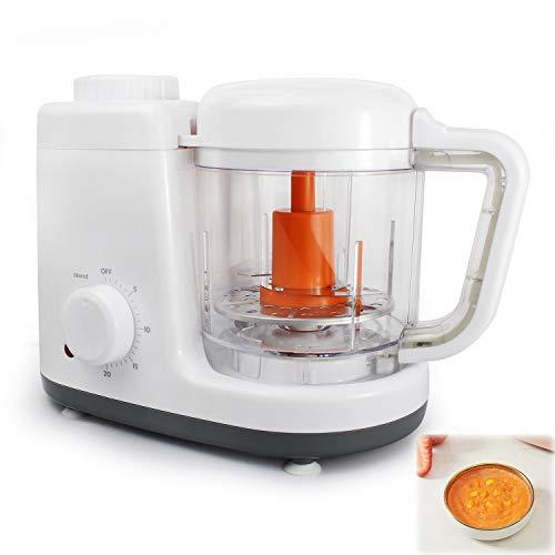 Sotech - Baby Menu 2 in 1 Küchenmaschine, Babynahrung Dampfgarer und Mixer,Küchenmaschine,Babynahrungszubereiter mit 500 ml Fassungsvolumen BPA-frei, Dampfgaren und Mixen, Orange -