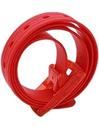 Danzh Ceinture en Plastique et Caoutchouc de Silicone pour Homme, Rouge,  123   3.2 1792f5773f8