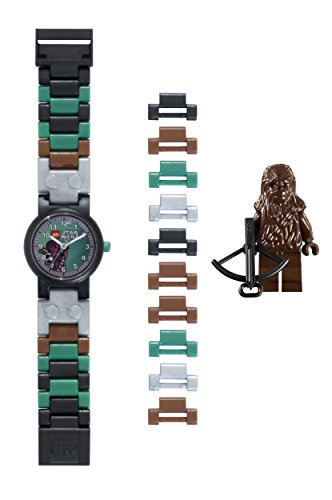 Reloj modificable infantil de Chewbacca de LEGO Star Wars 8020370 con pulsera por piezas y figurita