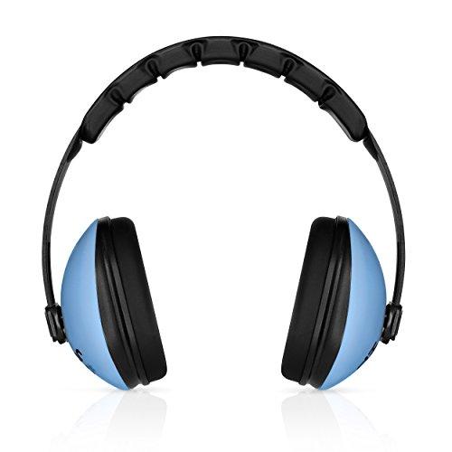 4-punkt-kopfband (heartek Kinder Ohrenschützer Gehörschutz mit Reise Bag Junior Gehörschutz für Kinder, gepolsterte Ohr Schutz, Baby, Säugling, verstellbare Displayschutzfolie Noise Reduction Ohrenschützer, blau)