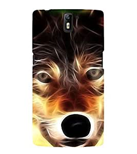 Angry Wolf 3D Hard Polycarbonate Designer Back Case Cover for OnePlus One