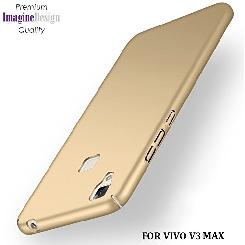 "Wow Imagine All Sides Protection ""360 Degree"" Sleek Rubberised Matte Hard Case Back Cover For Vivo V3 Max - Champagne Gold"