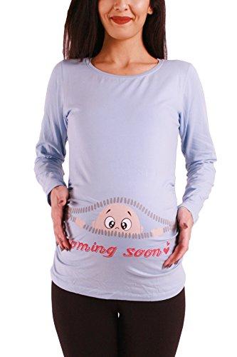 Umstands Pullover mit Aufdruck in verschiedenen Farben
