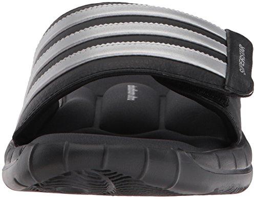 Adidas Superstar 3G Slide Sandalo, nero / argento / grigio, 5 M Us Black / Silver / Grey