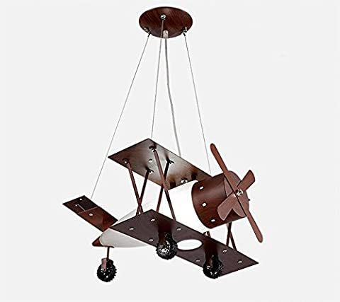 LoveScc Personalize Your Home Restaurant Living Room Bedroom Chandeliers Creative Antique Children Aircraft Lights Boys Rooms Sepia 12W/50*50Cm/Three Colors