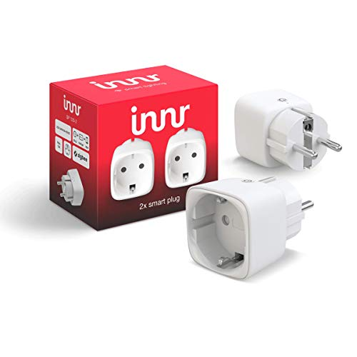 Innr SmartPlug SP 120 (2-Pack), enchufe inteligente, compatible con Philips Hue* y Amazon Echo Plus, 2300W, Blanco