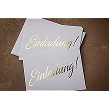 Einladungskarte Gold, 10 Karten Inkl. 10 Umschlägen, Stilvolle Schlichte  Einladung Für Hochzeit,