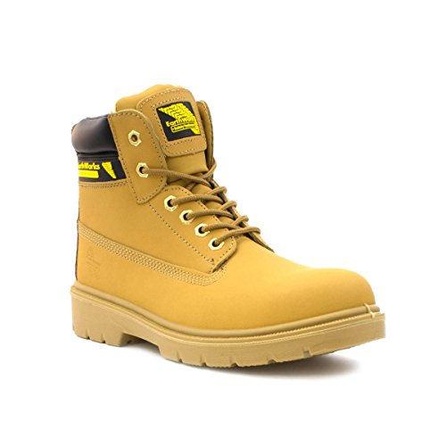 Earth Works Safety - Earth Works Mens Lace Safety Ankle Boot in Honey