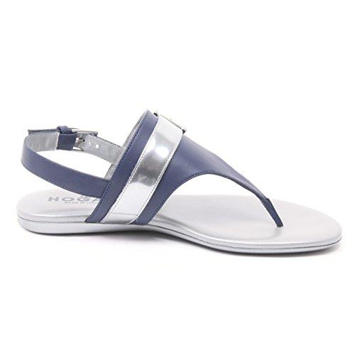B4082 infradito donna HOGAN valencia argento/blu chiaro shoes flip flop woman argento/blu chiaro
