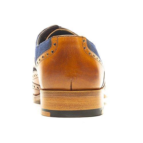 Barker - McClean - Mens - Cedar Calf/Blue Suede Marron - marron