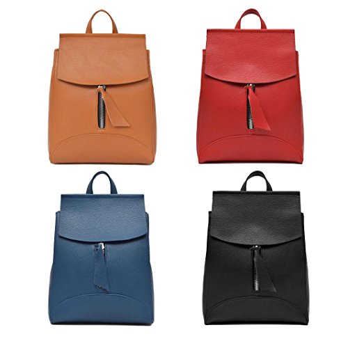 BZLine® Frauen Rucksack Travel Handtasche Rucksack Umhängetasche Tasche Reise Rot