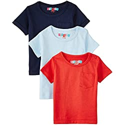 Day 2 Day Baby Girls' T-Shirt (263962025_Multi colored_03M)(Pack of 3)