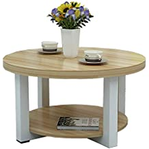 NAN Table Ronde en Bois Massif Table Basse Moderne et Simple Table Basse  Salon Petite Table aaae9e4a3bc4