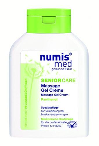 numis med SENIOR CARE Massage Gel Creme  - vegan & parabenfrei, 2er  Pack (2 x  200 ml) - Feuchtigkeitsspendende Massage Creme