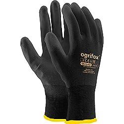 24Paires de sécurité avec revêtement Noir Gants de Travail Jardin Grip pour Homme Builders Jardinage - 10 (XL)