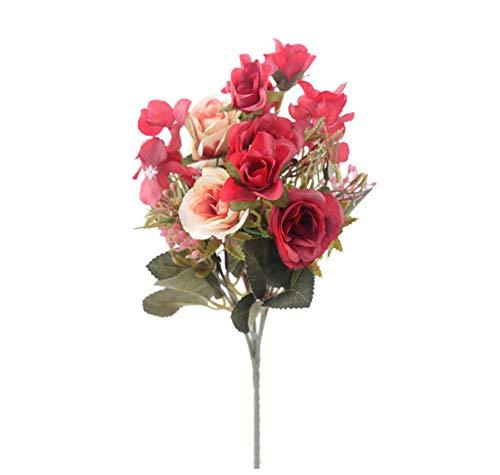 wfqjh rose finte fiori artificiali bouquet di alta qualità ortensia gypsophila accessori foglia per decorazioni natalizie per la casa di natale 2 pezzi c.