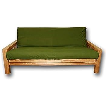 Sofabett bifold futonbez ge gr ne 200x140x30 cm amazon for Sofabett 140x200