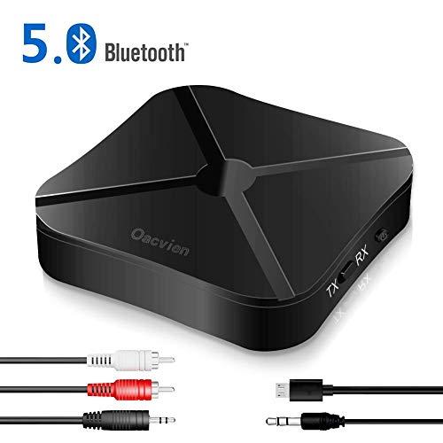 Oacvien Transmetteur Bluetooth 5.0 Récepteur,Adaptateur Bluetooth Récepteur et Émetteur Blutooth 2-en-1 Mini Sortie...