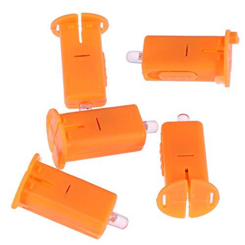 uchtende led licht Halloween Laterne zubehör Papier Laternen led elektronische Kerze led Party Lichter Birne für Party Dekoration (orange) ()