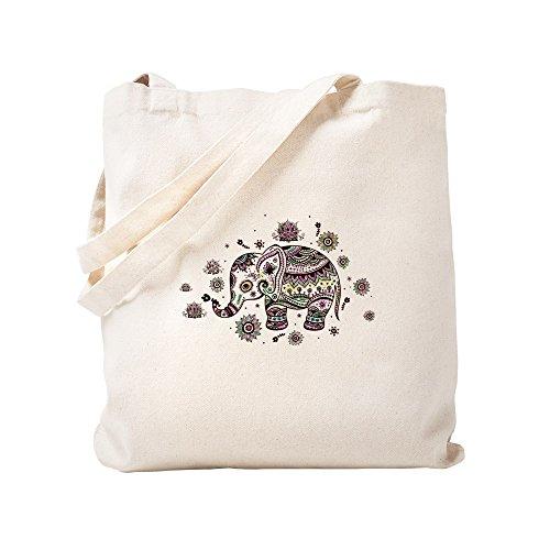 CafePress - Bolsa de tela, diseño de elefante, lona, caqui, Small
