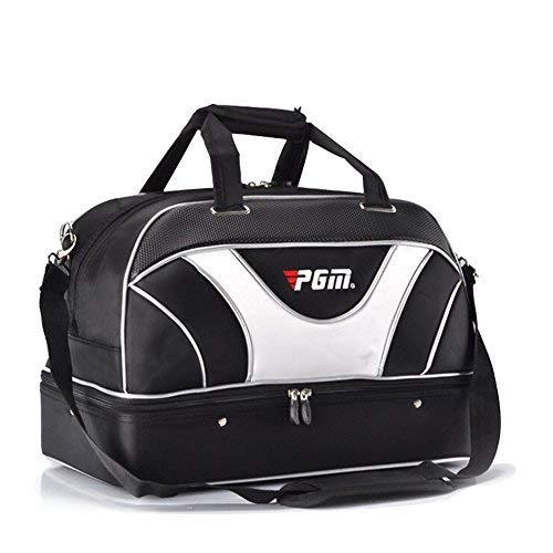 PGM Golf Duffle Bag doppelstöckige Golf Kleidung, Boston Bag, (Schwarz Boston Bag)
