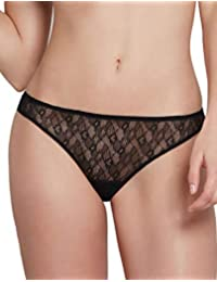Lou 00269 Women s Eclipse Couture Solid Colour Lace Panty Thong e68809b92