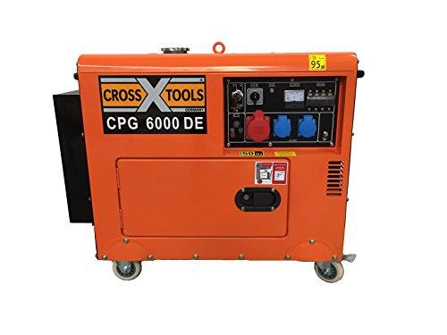 Cross Tools 68036 CPG 6000 DE Diesel Stromerzeuger Stromaggregat Generator, E-Start, 4,6 - Diesel-generatoren