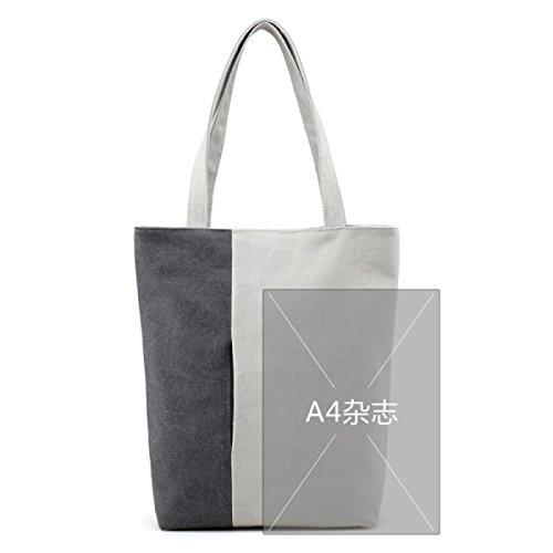 Leinentasche Art Und Weise Wilde Grüne Einkaufstasche Dame Art Einfache Handtaschen-Schulter-Beutel A