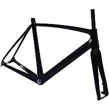 Carbono UD brillante bicicleta de carretera cuadro (para BSA): 50cm marco de bicicleta Tenedor
