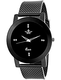 Swisso Sws-0133 Black Dial Exclusive Design Analogue Black Watch for Women & Girls