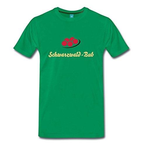 Schwarzwald Bollenhut Männer Premium T-Shirt von Spreadshirt®, XL, Kelly Green (Schwarzwald Kostüm)