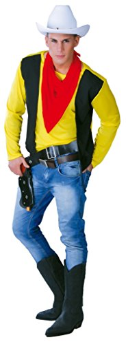 Mens Gunslinger Cowboy Wild West occidentali costume Large Yellow Large